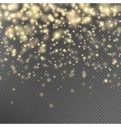 Gold glitter particles effect eps 10 vector
