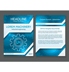 Abstract technology brochure template modern vector
