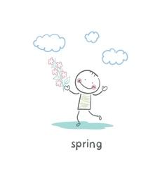 Spring walk vector