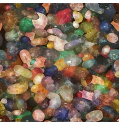 Seamless pattern pebbly stones  EPS10 vector image