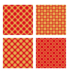 Red and golden pattern vector image