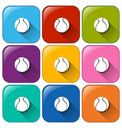 Ball buttons vector