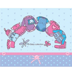 Clothing collection for baby vector image