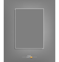 Background with a gray sheet of paper hanging vector