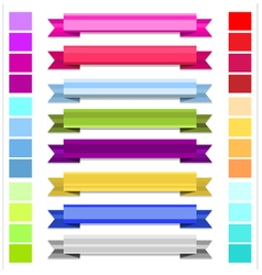 Ribbon colorful vector