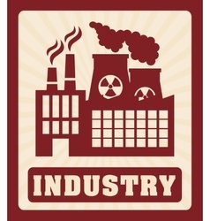 Factoryindustry and business design vector