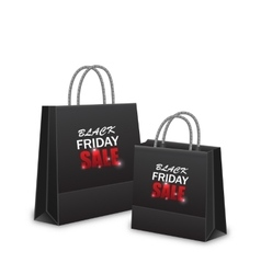 Shopping paper bags for black friday sales vector