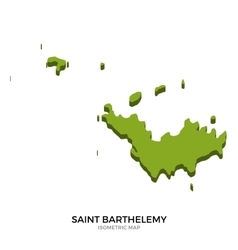 Isometric map of saint barthelemy detailed vector