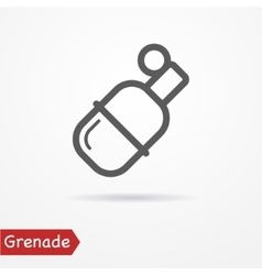 Grenade silhouette icon vector image