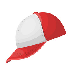 baseball cap baseball single icon in cartoon vector image