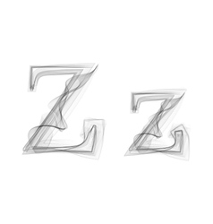 Black smoke font letter z vector