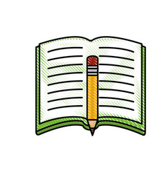 Book open symbol vector