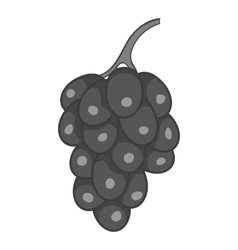 Bunch of grapes icon black monochrome style vector image