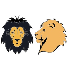 Cartoon lion heads vector