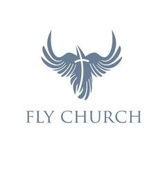 Christian conceptbird and cross vector image
