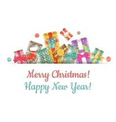 Christmas Gifts Background Horizontal Header vector image