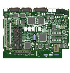 detailed chipset vector image