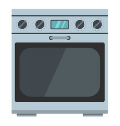 Domestic gas oven icon cartoon style vector