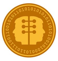 Dual head interface digital coin vector
