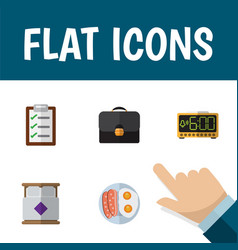 Flat icon life set of questionnaire fried egg vector