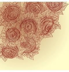 Floral decorative background sketch style vector