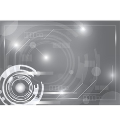 Gray technology background vector
