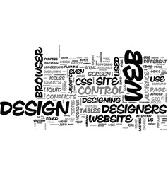 Issues on web design text background word cloud vector