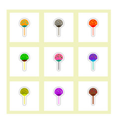 Label icon on design sticker collection bonbon vector