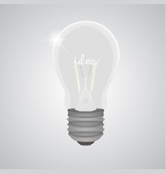 lightbulb bulb realistic light idea power vector image