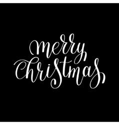 Merry christmas black and white handwritten vector