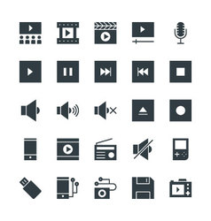 Multimedia Cool Icons 2 vector image