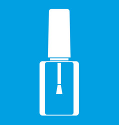 Nail polish bottle icon white vector