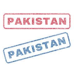 Pakistan textile stamps vector