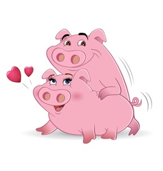 pigs mating vector image