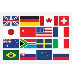 Popular Flat Flags vector image