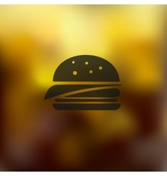 Sandwich icon on blurred background vector