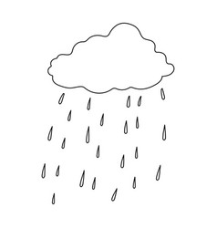 scottish rainy weather icon in outline style vector image