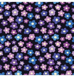 seamless pattern with blossoms vector image vector image