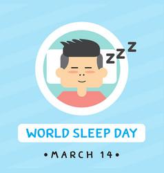 Sleep day vector
