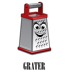 Stainless steel kitchen grater vector