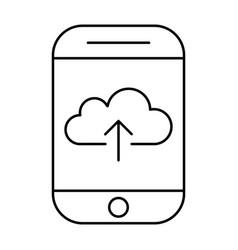 uploading to cloud storage using smartphonemobile vector image vector image