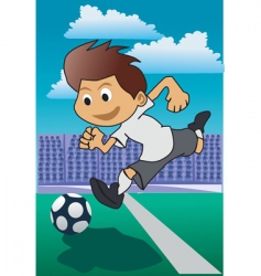 Soccer cartoon vector