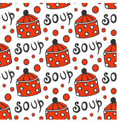 seamless pattern with retro pots background for vector image