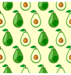 Seamless pattern with avocado vector