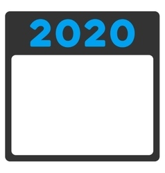 2020 plan icon vector