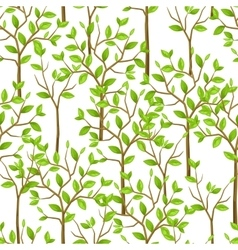 Seamless pattern with garden tress background vector