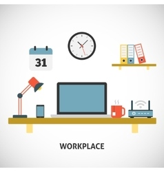 Workplace modern concept vector