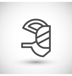 Respirator mask line icon vector
