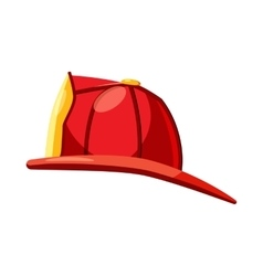 Helmet for a firefighter icon cartoon style vector