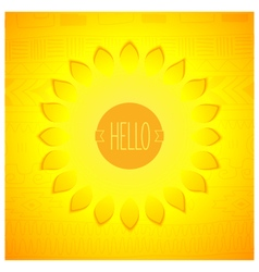 Abstract sunshine design vector